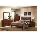 Lifestyle 9182 Dresser With 6 Drawers and Contemporary Mirror