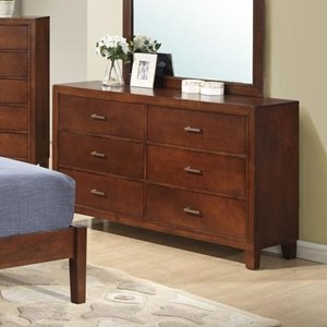 Lifestyle 9182 Dresser With 6 Drawers