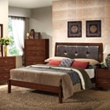 Lifestyle 9182 Queen Leather Panel Bed - Item Number: C9182A-QXA-XXXX+QXP-XXXX