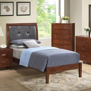 Lifestyle 9182 Twin Upholstered Panel Bed