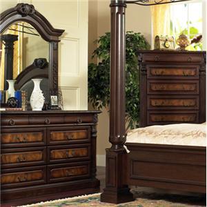 Lifestyle Big Apple Dresser & Mirror Set