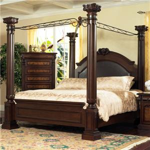 Lifestyle 9218 Bedroom Queen Canopy Bed