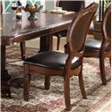 Lifestyle 9218D Upholstered Oval Dining Side Chair