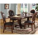 Lifestyle 9218D Upholstered Oval Dining Side Chair - Shown with Arm Chairs & Dining Table