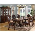 Lifestyle 9218D Upholstered Oval Dining Side Chair - Shown with Arm Chairs, Dining Table & China Cabinet