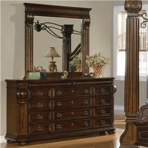 Lifestyle 9241 Dresser & Mirror