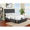 Lifestyle 9361N Queen Upholstered Bed with Underbed Drawer - Item Number: 9361N-QN-STR-CH