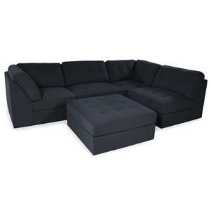 Lifestyle Sabrina: Dark Grey Sectional Sofa