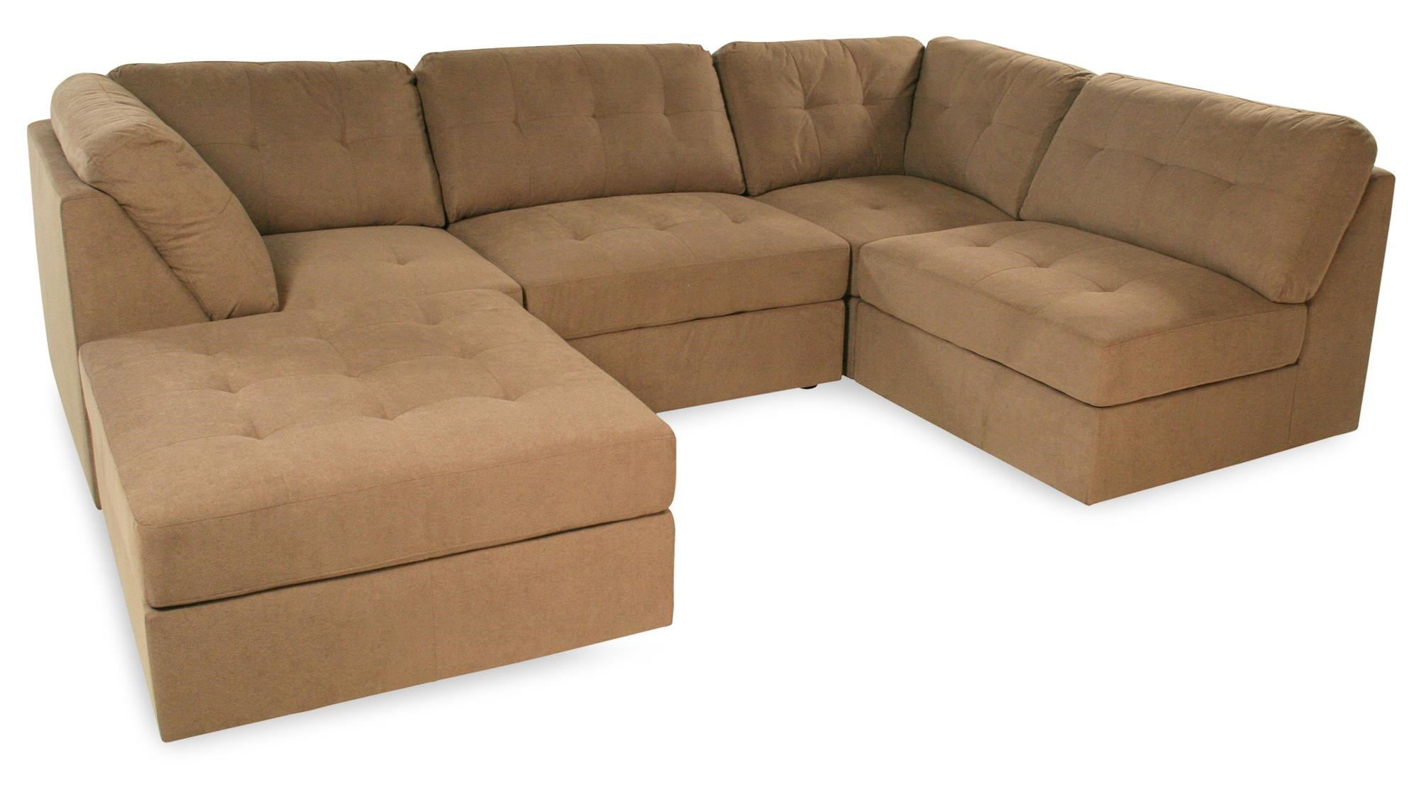 Lifestyle Sabrina: Taupe Sectional Sofa   Item Number: 9377 5PC
