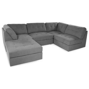 Lifestyle Sabrina: Grey Sectional Sofa