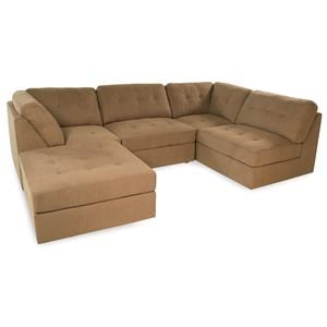 Lifestyle Sabrina: Taupe Sectional Sofa