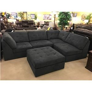 Lifestyle 9377 Sectional with Ottoman