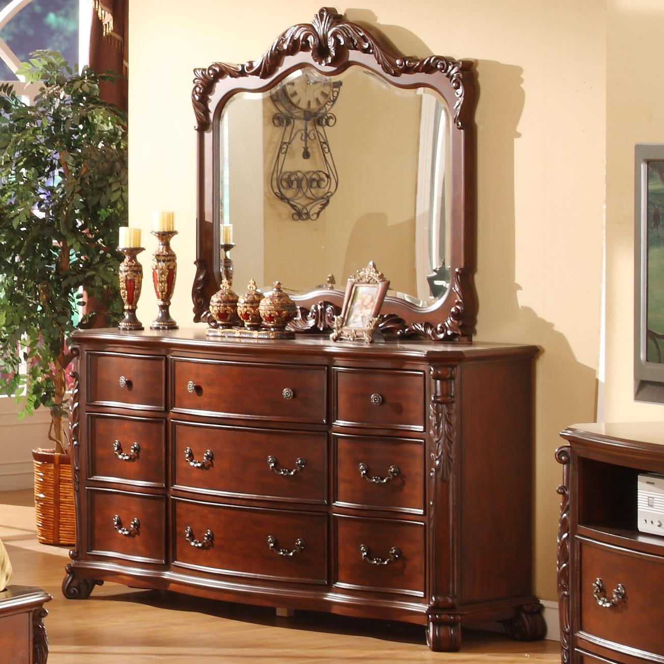 Lifestyle Frenchy Traditional 9 Drawer Dresser and Mirror ...
