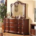 Lifestyle Frenchy Dresser and Mirror Set - Item Number: C9642A-040-9DCH+050