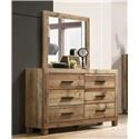 Lifestyle C8311A Dresser and Mirror - Item Number: 579383123