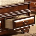 Lifestyle B1172 California King Captain's Bed with Bracket Feet and Sleigh Headboard  - View of Storage Footboard