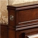 Lifestyle B1172 California King Captain's Bed with Bracket Feet and Sleigh Headboard  - Rosette Detail