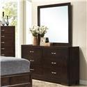 Lifestyle Bookie Dresser and Mirror - Item Number: C4233-040+050