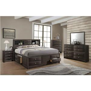 Lifestyle Todd Gray Queen 5 Piece Bedroom Group