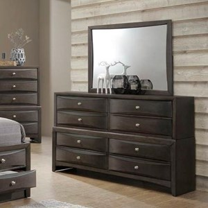 Lifestyle Todd Gray Dresser and Mirror