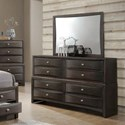 Lifestyle Todd Gray Dresser and Mirror - Item Number: C7172A-040-8DXX+050-MHXX
