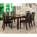 Lifestyle Cassidy 7 Pc Dining Group - Item Number: C1632D-DTX-1BXX+6xDS2-BKXX