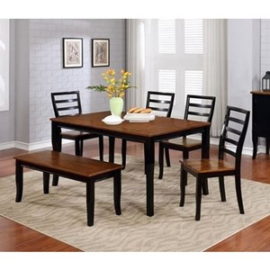 Lifestyle C1648 Dining Table Set with Bench