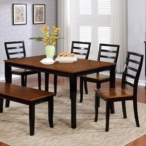 Lifestyle C1648 Dining Table and Four Chairs