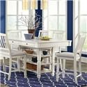 Lifestyle Milk White Table & Chair Set - Item Number: C1734P-PTX+4xPP2