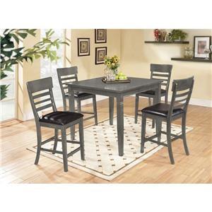 Lifestyle C1744 5 Piece Pub Table Set