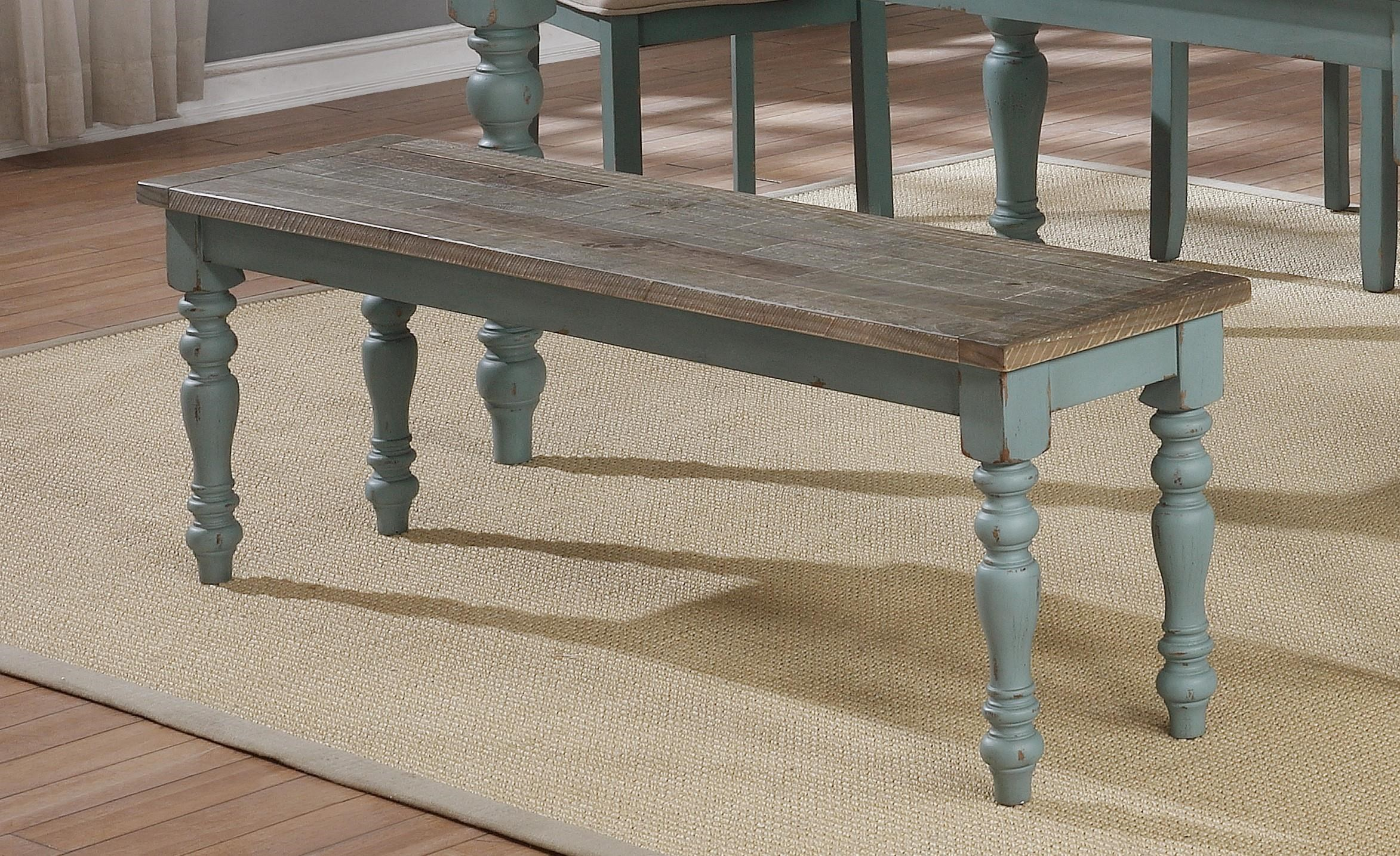 C1854D Blue/ Brown Bench by Lifestyle at Furniture Fair - North Carolina