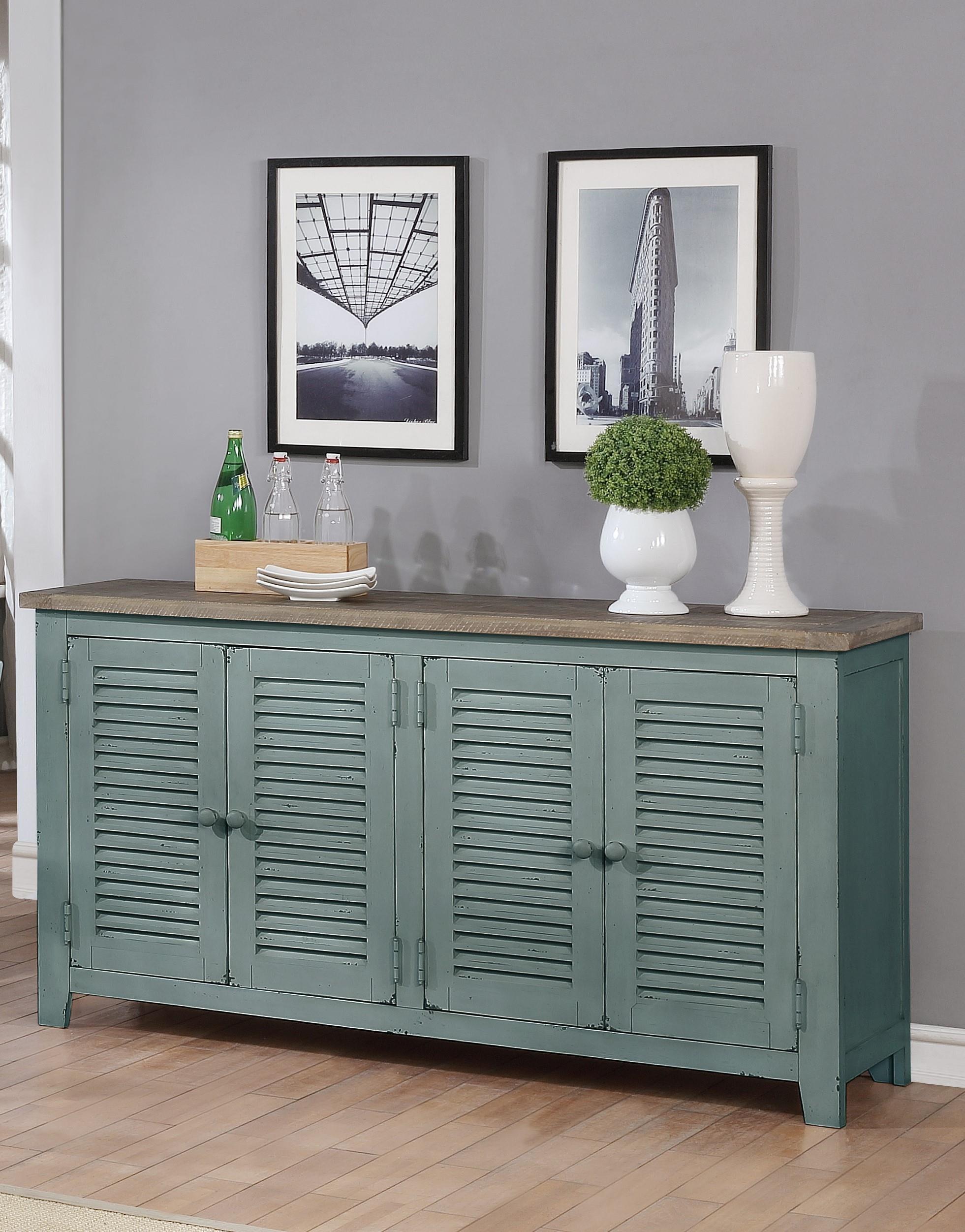 C1854D Blue/ Brown 4 Door Server by Lifestyle at Furniture Fair - North Carolina