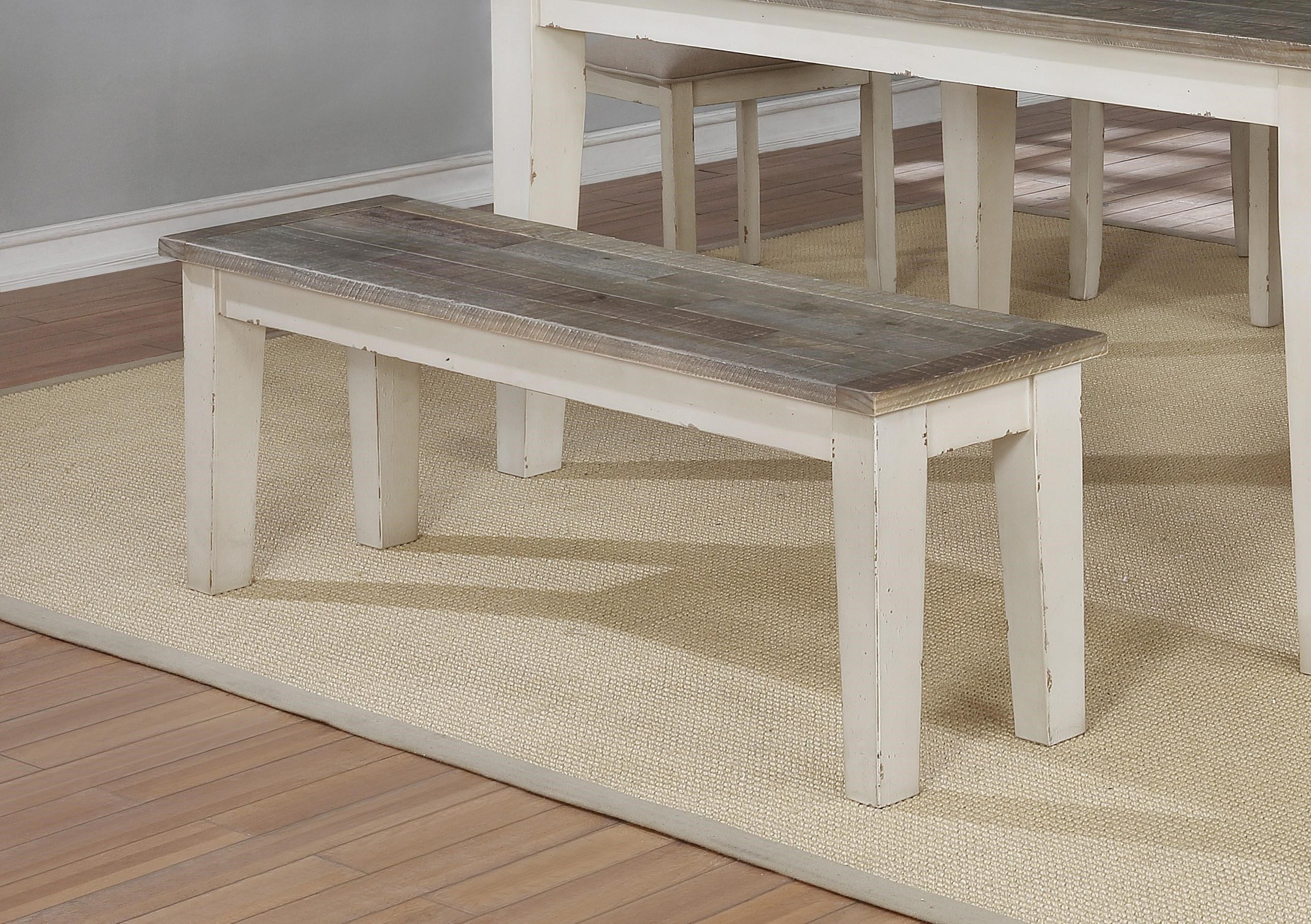 C1855Dwht-brn Dining Bench by Lifestyle at Furniture Fair - North Carolina