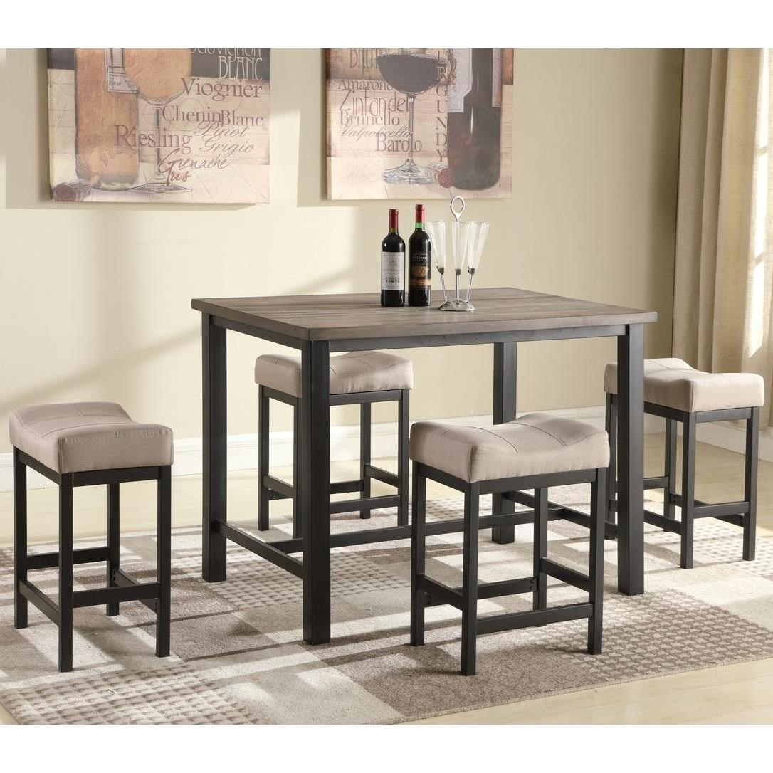 Newcastle Counter Height Dining Table 2 Chairs 2 Stools: Lifestyle C1861P C1861P-P4SF9XKHX Counter Height Pub Table