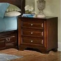 Lifestyle Millie 3 Drawer Night Stand - Item Number: C2192R-020-3DXX