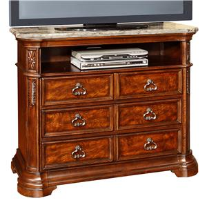 Lifestyle C2258 Six Drawer Media Chest