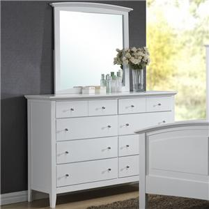 Alex Express Life C3226A Dresser and Mirror