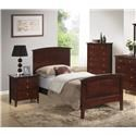 Lifestyle C3136A Bedroom Transitional Twin Bed with Panel Headboard a - Item Number: 3136A-TWN-HBFB-R