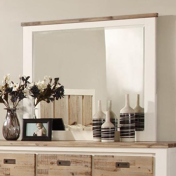 Lifestyle Tommy Two-Tone Dresser Mirror w/ Wood Finish Frame - Item Number: C3470A-050-MHXX