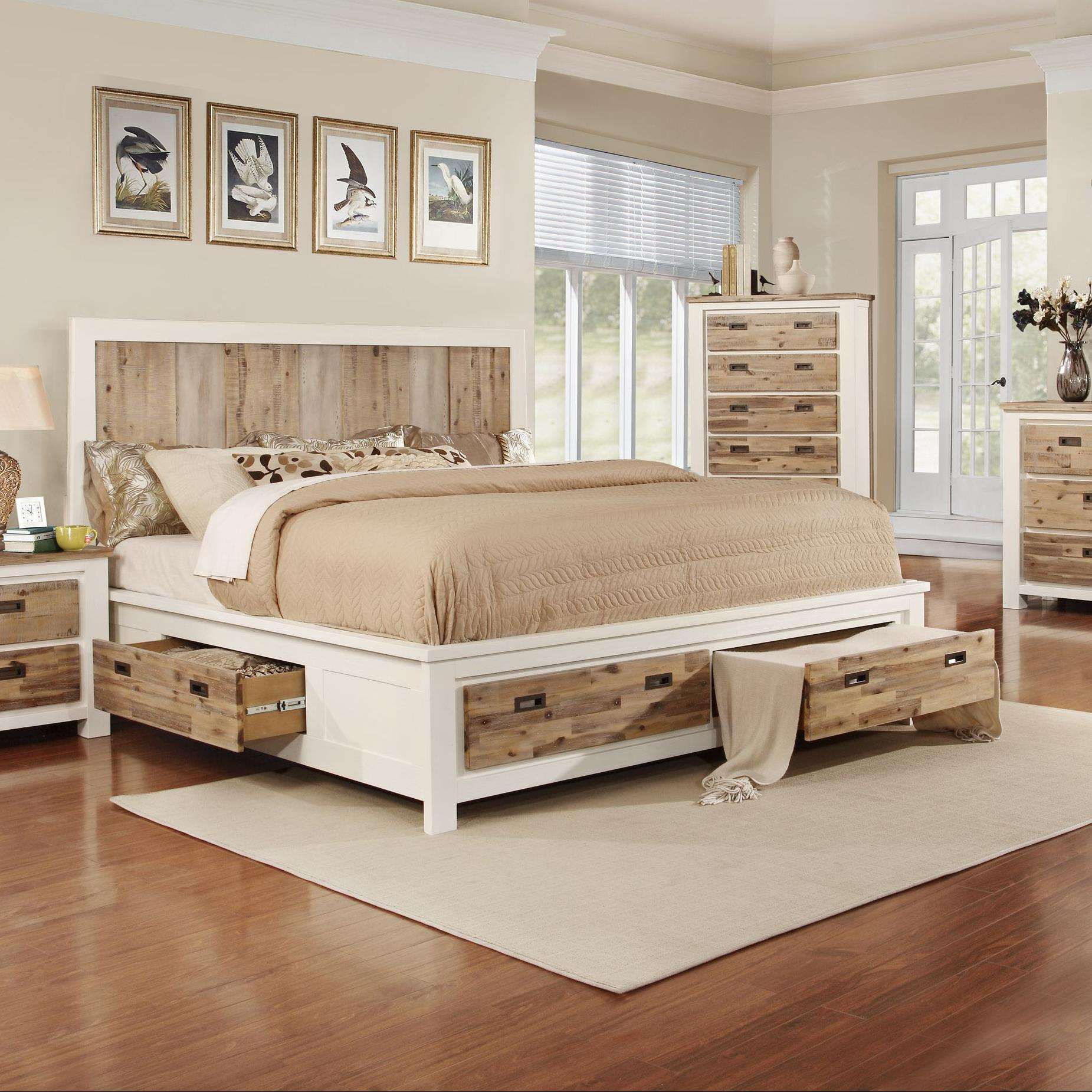 Lifestyle Tommy King Storage Bed - Item Number: C3470A-KX2+GTC+BTN+GXS