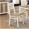 Lifestyle C347 Dining Side Chair with Ladder Back and Two Tone Wood Finish