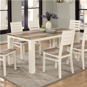 Lifestyle C347 Two Tone Wood Finish Rectangle Dining Table : two tone kitchen table - hauntedcathouse.org