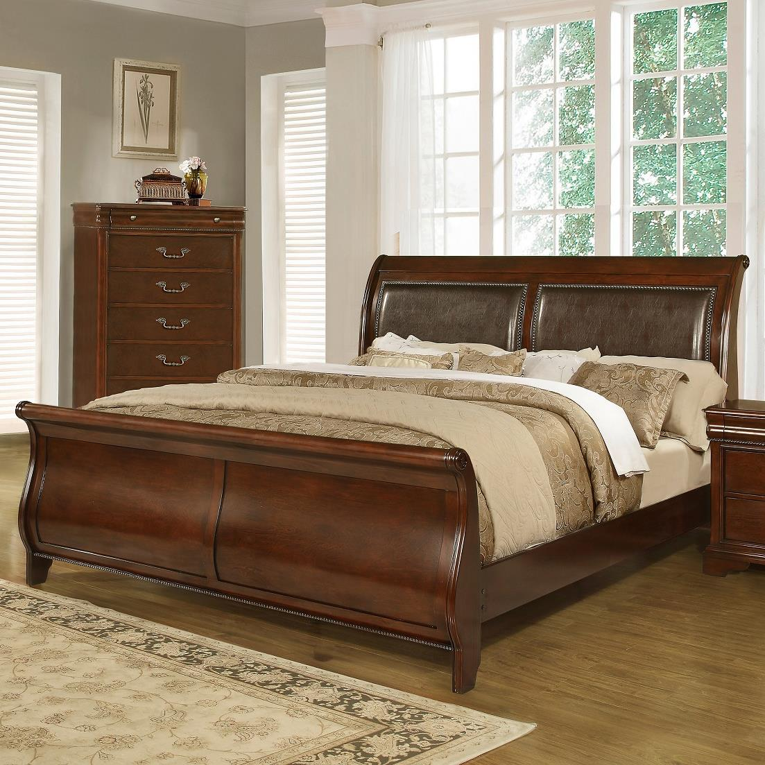 Lifestyle C4116a Traditional King Sleigh Bed Furniture
