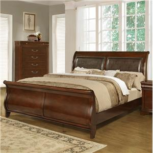 Lifestyle C4116A King Sleigh Bed