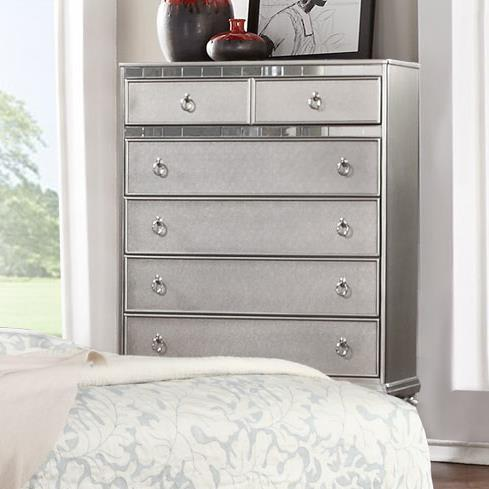 Lifestyle Glam Chest of Drawers with Full Extension Drawers - Item Number: C4183A-035