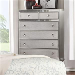 Lifestyle Glam Chest Of Drawers With Full Extension Drawers