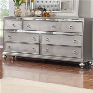 Lifestyle Glam Dresser with Full Extension Drawer Glides
