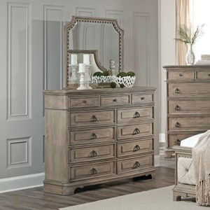 Lifestyle Pearl Dresser and Mirror Set