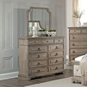 Lifestyle Pearl Dresser and Mirror Set - Item Number: C6296A-045-11XX+050-MHXX