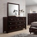 Lifestyle Jessgal 7 Drawer Dresser and Mirror - Item Number: C6498A-040-7DXX+C6498A-050-XXXX